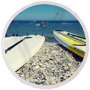 Stand Up Paddle Boards Round Beach Towel
