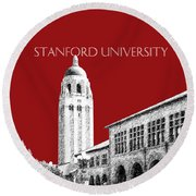 Stanford University - Dark Red Round Beach Towel