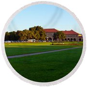 Stanford University Campus, Palo Alto Round Beach Towel by Panoramic Images