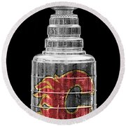 Stanley Cup Calgary Round Beach Towel