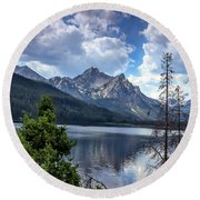 Stanley Lake View Round Beach Towel
