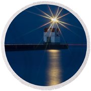 Star Bright Round Beach Towel