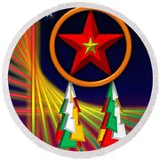 Round Beach Towel featuring the digital art Star by Cyril Maza