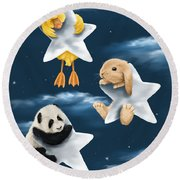 Star Games Round Beach Towel