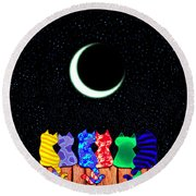 Star Gazers Round Beach Towel