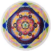 Star Mandala Round Beach Towel