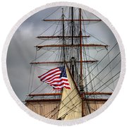 Star Of India Stars And Stripes Round Beach Towel