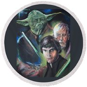 Star Wars Medley Round Beach Towel by Peter Suhocke