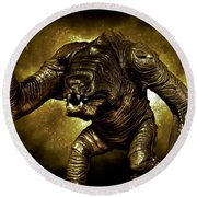 Star Wars Rancor Monster Round Beach Towel by Nicholas  Grunas