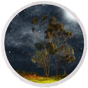 Starfield Round Beach Towel by RC deWinter