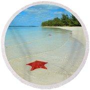 Starfish 5 Of Bottom Harbour Sound Round Beach Towel