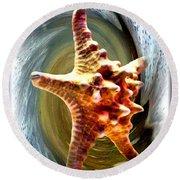 Round Beach Towel featuring the digital art Starfish by Daniel Janda
