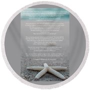 Starfish Make A Difference  Round Beach Towel