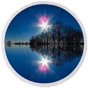Starflection Round Beach Towel by Nick Kirby