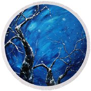 Stargazer Round Beach Towel by Meaghan Troup