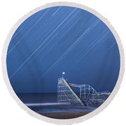 Starjet Under The Stars Round Beach Towel by Michael Ver Sprill