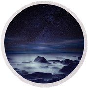 Starry Night Round Beach Towel