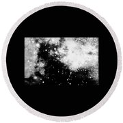 Stars And Cloud-like Forms In A Night Sky Round Beach Towel