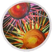 Stars With Colors Round Beach Towel by Chrisann Ellis