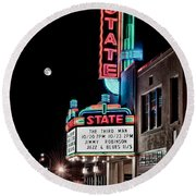 State Theater Round Beach Towel