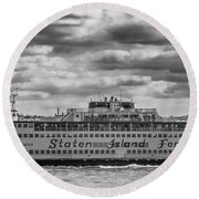 Staten Island Ferry 10484 Round Beach Towel