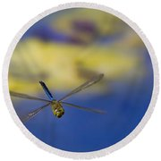 Round Beach Towel featuring the photograph Stealth Chopper by Gary Holmes