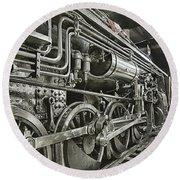 Steam Locomotive 2141 Round Beach Towel