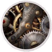 Steampunk - Gears - Horology Round Beach Towel