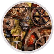 Steampunk - Gears - Inner Workings Round Beach Towel