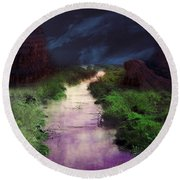 Steamy Creek Round Beach Towel