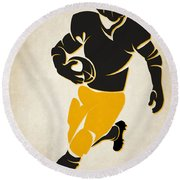 Steelers Shadow Player Round Beach Towel