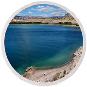 Round Beach Towel featuring the photograph Steinacker Reservoir Utah by Janice Rae Pariza