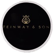 Steinway And Sons Round Beach Towel