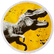 Stencil Trex Round Beach Towel by Pixel Chimp