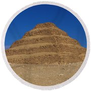 Step Pyramid Of King Djoser At Saqqara  Round Beach Towel