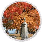 Sterling Ma Burial Ground Round Beach Towel