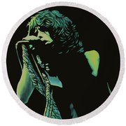 Steven Tyler 2 Round Beach Towel by Paul Meijering