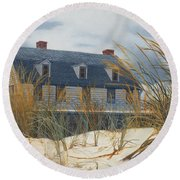 Stevens House Round Beach Towel
