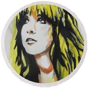 Stevie Nicks 01 Round Beach Towel