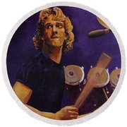 Stewart Copeland - The Police Round Beach Towel