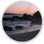 Stewart's Cove At Sunset Round Beach Towel