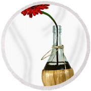 Still Life 1 Round Beach Towel by Richard Ortolano