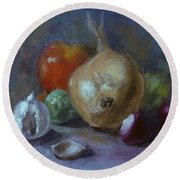 Still-life Round Beach Towel