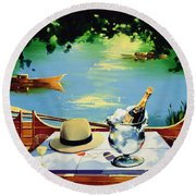Still Life Regatta Round Beach Towel