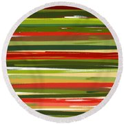 Stimulating Essence Round Beach Towel by Lourry Legarde