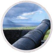 St.kitts Nevis - On Guard Round Beach Towel