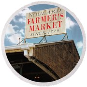 St.louis Market Round Beach Towel