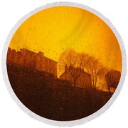 Stockholm The Heights Of South In Silhouette Round Beach Towel