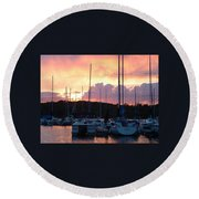 Stockton Sunset Round Beach Towel