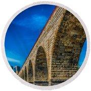 Stone Arch Bridge By Paul Freidlund Round Beach Towel